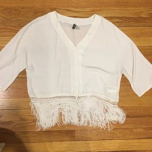 H&M Tassle Bottom Blouse